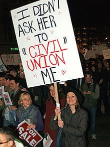 image showing civil union protests