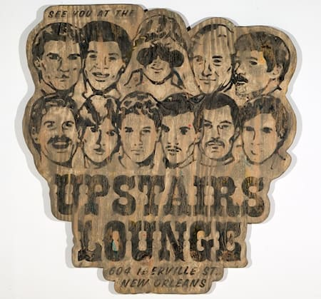 Upstairs Lounge sign
