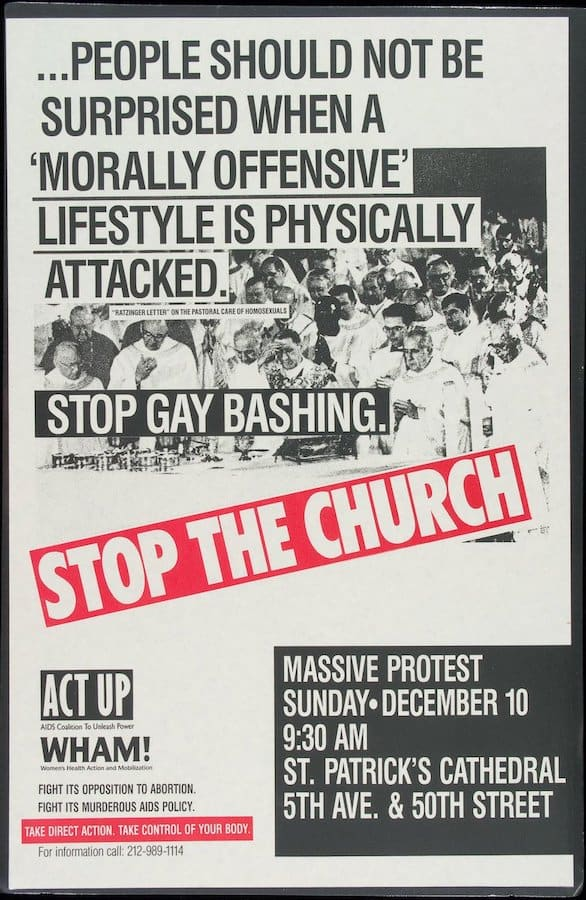 act up stop the church poster